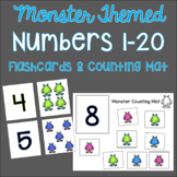 Number Flash Cards 1-20 (Monster Themed)