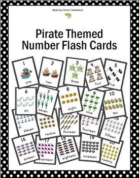Number Cards 1-20 Pirate