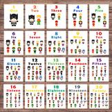 Number Flash Cards - 1-20 - Pre-k and Kindergarten - Super