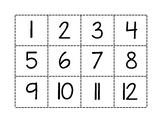 Number Flash Cards 1-40