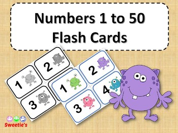 photo relating to Printable Numbers 1-50 named Amount Flash Playing cards 1-50 Worksheets Instructors Spend Lecturers