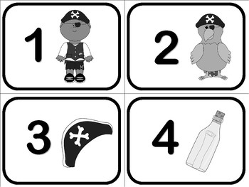 Number Flash Cards 1 to 50 - Pirates