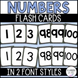 Number Flash Cards - Black and Bright Polka Dot Theme