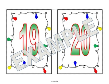 Number Flash Cards - Christmas Themed