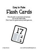 Number Flash Cards - Puppy and Bones - Easy to Make - PreK