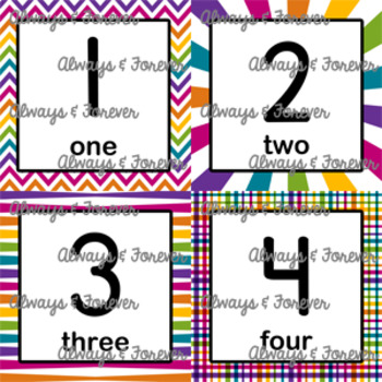 Number Flash Cards Set 2