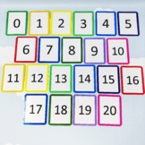Number Flash Cards to 20. Practicing Counting to 20. Numbers Matching Activity