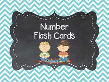 Number Flash Cards to 30