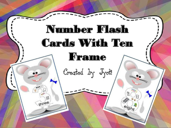Number Flash Cards with Ten Frame