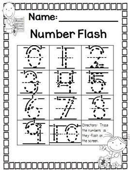 Number Flash - Editable 0-10 and 0 - 20
