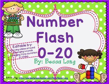 Number Flash - Editable 0-20