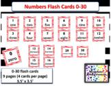 Number Flash cards 0-30