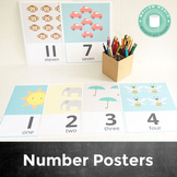Number Recognition and Counting Posters 1-20
