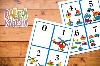 Number Flashcards 0 – 10 Transportation