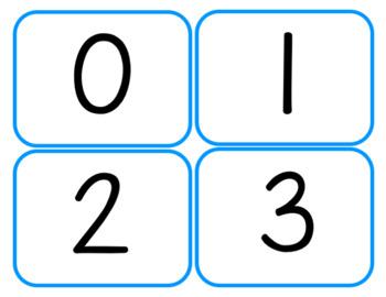 Number Flashcards 0-100: FREEBIE
