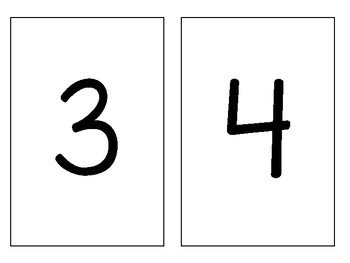 Number Flashcards 0-20