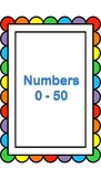 Number Flashcards (0-50)