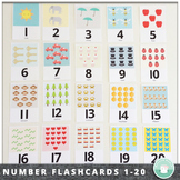 Number Recognition 0-20 Number Flash Cards