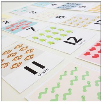 Number Recognition 0-20 Number Flash Cards