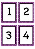 Number Flashcards 1-20 for Kindergarden
