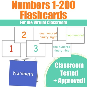 Number Flashcards 1-200 for VIPKid & the Virtual ESL Classroom - Classroom Props