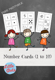 Number Flashcards (1 to 10)
