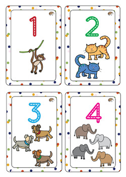 Number Flashcards 1 to 20