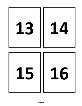 Number Flashcards - Freebie