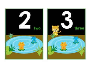 Number Flashcards - Jungle Theme