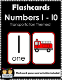 Number Flashcards (Transportation Themed)