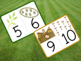 Number Flashcards, Vintage Easter Images, 1-10