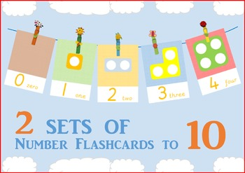Numicon Number Flashcards to 10 with Number Shapes TWO SETS