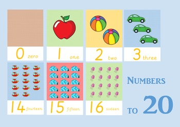 Number Flashcards to 20
