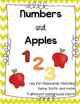 Numbers & Apples Flashcards