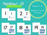 Number Flashcards with and without Ten Frames