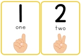 Number Flash Cards with Fingers 1-10