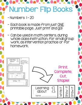 Number Flip Books {1-20}