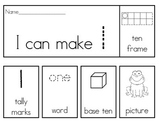 Number Flip Books 1-20 With Ten Frames, Tally Marks, Base Ten, Word, Pictures!