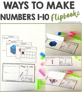 Number Sense Worksheets 1-10 - Flipbooks