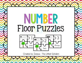 Number Floor Puzzle [Numeral ID & Counting and Cardinality