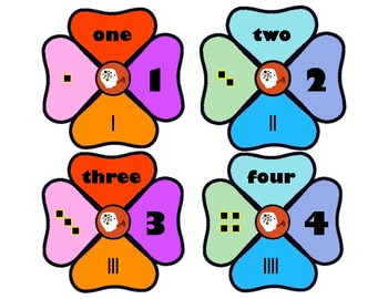 Number Flower Puzzle to 10