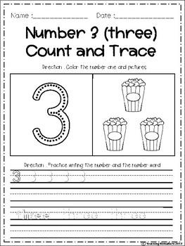 Number Fluency 1-10 NO PREP