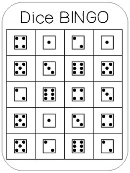 Number Fluency Bingo with Dice Dots, Tally Marks and Numerals