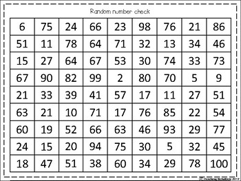 Number Fluency Check