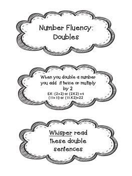 Number Fluency Doubles
