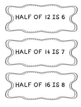 Number Fluency Halves
