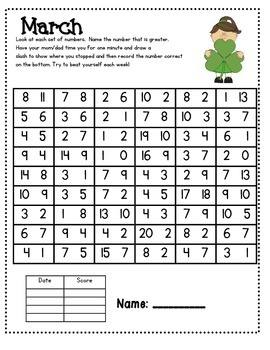 Number Fluency Homework Pack