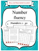 Number Fluency Roll and Read and Practice Cards