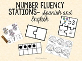 Number Fluency Stations - Spanish and English
