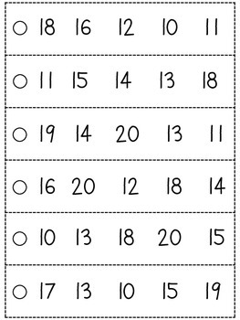 Number Fluency Strips